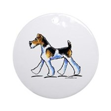 Wire Fox Terrier Trot Ornament (Round)