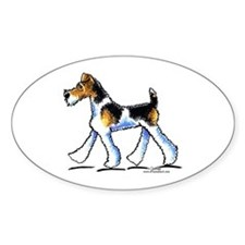 Wire Fox Terrier Trot Decal