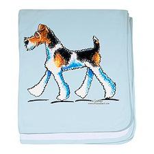 Wire Fox Terrier Trot baby blanket