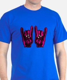 Metal Hands (Malocchio) Red T-Shirt