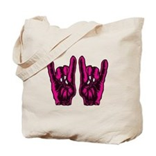 Metal Hands (Malocchio) Red Tote Bag