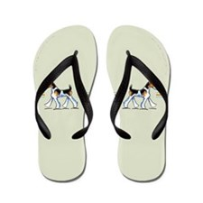Wire Fox Terrier Trot Flip Flops