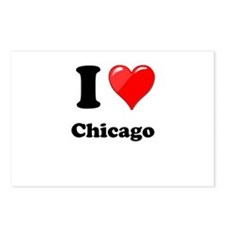 I Heart Love Chicago.png Postcards (Package of 8)