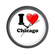 I Heart Love Chicago.png Wall Clock