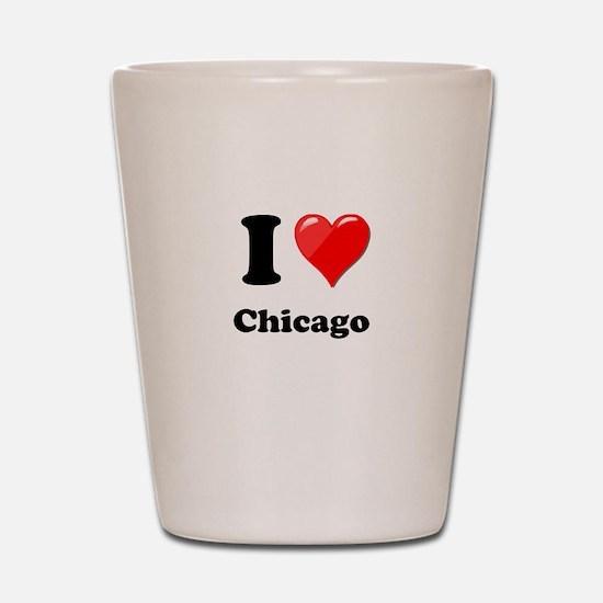 I Heart Love Chicago.png Shot Glass