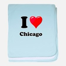 I Heart Love Chicago.png baby blanket