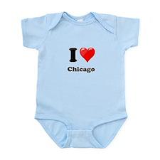 I Heart Love Chicago.png Infant Bodysuit
