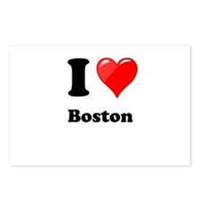 I Heart Love Boston.png Postcards (Package of 8)