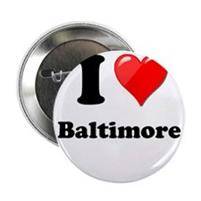 """I Heart Love Baltimore.png 2.25"""" Button"""
