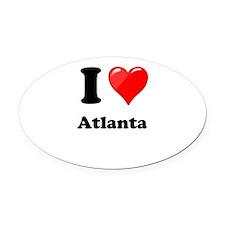 I Heart Love Atlanta.png Oval Car Magnet