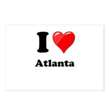 I Heart Love Atlanta.png Postcards (Package of 8)