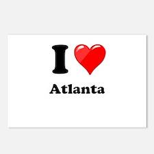 I Heart Love Atlanta.png Postcards (Package of 8)