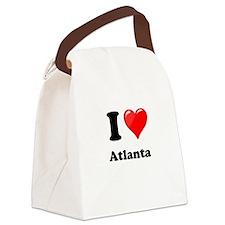 I Heart Love Atlanta.png Canvas Lunch Bag