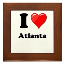 I Heart Love Atlanta.png Framed Tile