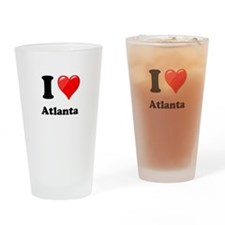 I Heart Love Atlanta.png Drinking Glass