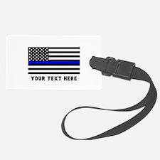 Thin Blue Line Flag Luggage Tag