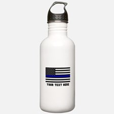 Thin Blue Line Flag Sports Water Bottle