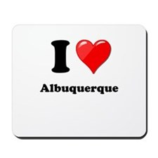 I Heart Love Alburquerque.png Mousepad