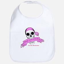 Hope For a Cure Skull Scroll Pink Bib