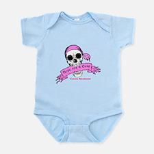 Hope For a Cure Skull Scroll Pink Infant Bodysuit