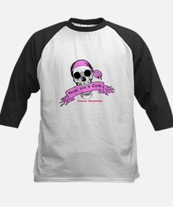 Hope For a Cure Skull Scroll Pink Tee