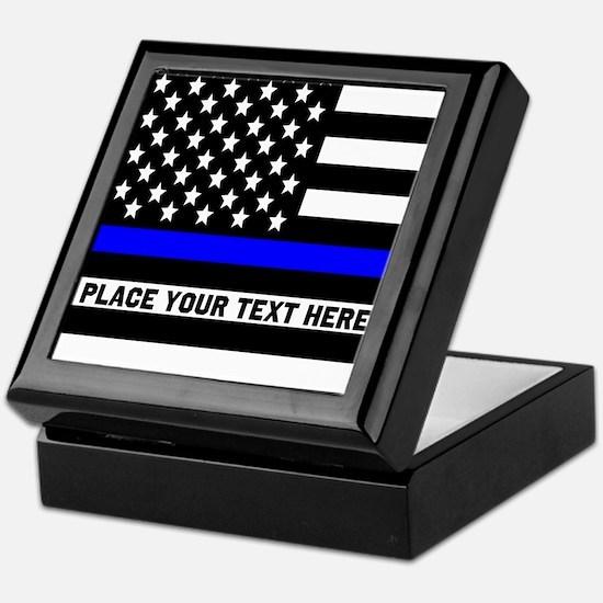 Thin Blue Line Flag Keepsake Box