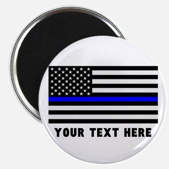 Thin Blue Line Flag Magnet