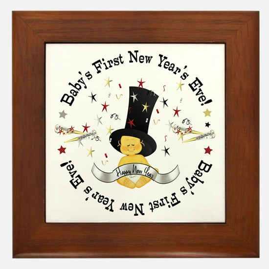 Baby's 1st New Year Framed Tile
