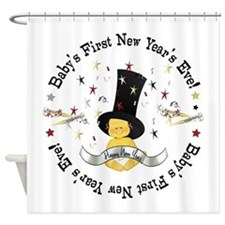 Baby's 1st New Year Shower Curtain