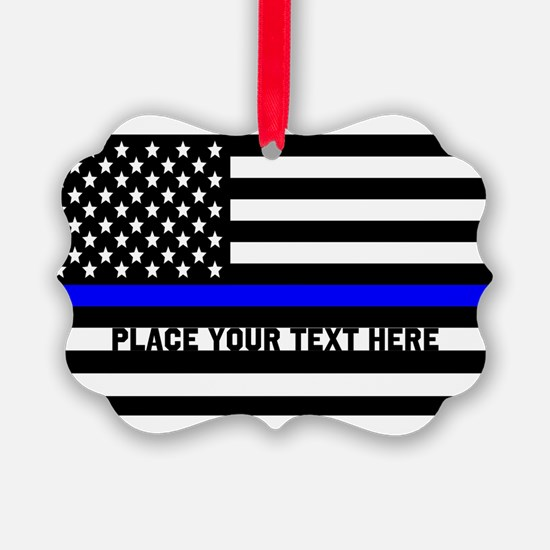 Thin Blue Line Flag Ornament