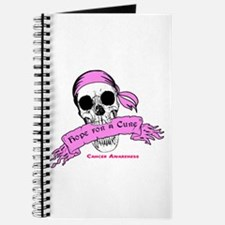 Hope For a Cure Skull Scroll Pink Journal