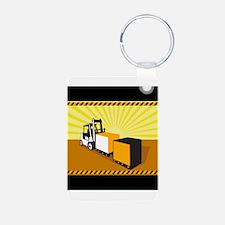 Forklift Truck Materials Handling Retro Keychains