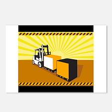 Forklift Truck Materials Handling Retro Postcards
