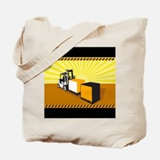 Forklift Truck Materials Handling Retro Tote Bag