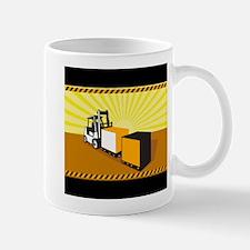 Forklift Truck Materials Handling Retro Mug