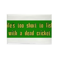 Life is too short to fish with a dead cricket Rect