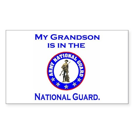 Sticker: Grandson In The National Guard
