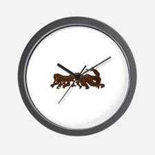 rugby player scrum metal texture Wall Clock