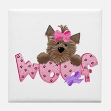 Yorkiegirl Woof Tile Coaster