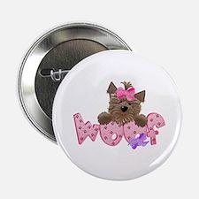 """Yorkiegirl Woof 2.25"""" Button"""