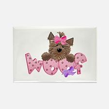 Yorkiegirl Woof Rectangle Magnet (100 pack)
