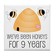 9th Anniversary Honey Tile Coaster