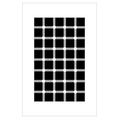 Scintillating grid illusion Poster