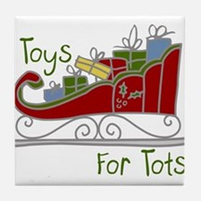 Toys for Tots Sleigh Tile Coaster