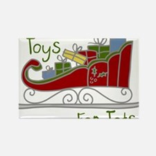 Toys for Tots Sleigh Rectangle Magnet