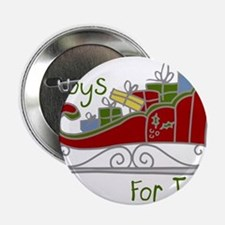 """Toys for Tots Sleigh 2.25"""" Button"""