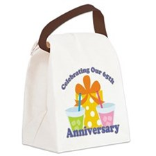 65th Anniversary Party Gift Canvas Lunch Bag
