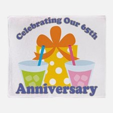 65th Anniversary Party Gift Throw Blanket