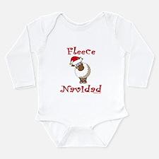 Fleece Navidad Long Sleeve Infant Bodysuit