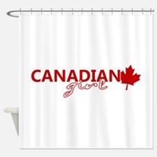Canadian Girl Shower Curtain